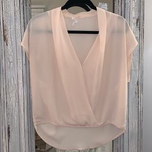 Olivaceous baby pink Blouse- Medium